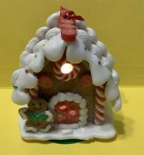 Gingerbread House W/ Gingerbread Man Lights Up! - Christmas Holiday Ornament