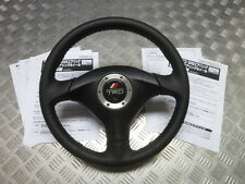 JDM Genuine TRD JZA80 Supra TT Blk Leather Red Stitch SRS Steering Wheel Type-A