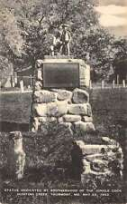 Thurmont Maryland Brotherhood Of Jungle Cock Statue Antique Postcard K57023