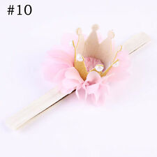 2017 Baby Girl Crown Headband Princess Crown Hair Band Pearl Tiara Lace Headwear #10