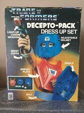 RARE HG TOYS VINTAGE 1985 TRANSFORMERS Decepto-Pack DRESS-UP SET COSTUME HASBRO