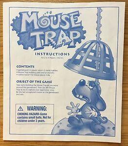 Mouse Trap Game Pieces - Parts - 2004 - Instruction Pamphlet - Part - Game Piece