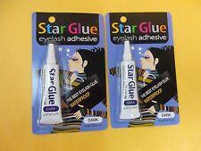 2 Star Eyelash Glue Dark Adhesive 1/4 oz - NEW FREE SHIP