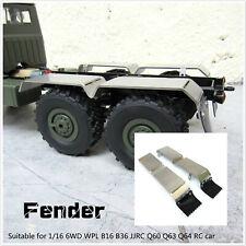 Metal Mud Fender Back Mudguard for 1/16 6WD WPL B16 B36 JJRC Q60 Q63 Q64 RC Car