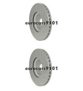 Mercedes SLK55 AMG Hella-PAGID Front Disc Brake Rotors 2 355109492 221421181207