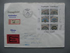 GERMANY DDR, R-cover FDC 1986, S/S