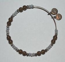 Alex and Ani Assorted Vintage Beaded Pearl Silver Bracelet RARE