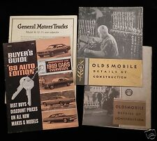 Oldsmobile Details Of Construction 1930 & BUYERS GUIDE 1969 AUTO -- VTG Car Lot