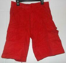 Evolution in Design Red Denim Cargo Style Shorts Boys Size: 12