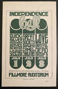 BG-14 GRATEFUL DEAD JOPLIN LOVE FILLMORE 1966 WILSON ORIGINAL HANDBILL NEAR MINT