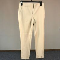 Chicos Women's Pants Size 1T(8T) Taupe Capri Cropped Flat Front Cotton Stretch