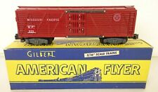 AMERICAN FLYER #929 TUSCAN MISSOURI PACIFIC STOCK CAR-VG. IN ORIG. BOX!