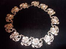 """113.9g sterling """"flower"""" necklace by Black Star, estate"""
