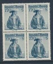 Österreich Nr. 978 postfrisch / **, VIERERBLOCK 2,20 S. Trachten  (32462)