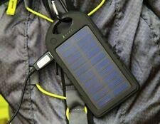 CARICABATTERIA POWER BANK PANNELLO SOLARE 5800 mAh USB 20 LUCI LED + ADATTATORI