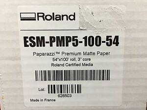"Roalnd PMP5 Paparazzi Premium Matte Poster Paper 54"" X 100' Solvent Print 8 mil"