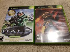 Halo 1 & 2 Lot of 2 Games for Original X-Box