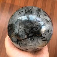 2000g NATURAL Black Tourmaline Citrine quartz crystal sphere ball healing #13