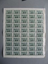 ITALY, complete sheet Marco Polo 1954 MNH, dragon,perforation 13¼ x 12¼, CV $940