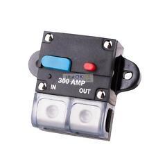 300 AMP 12V Circuit Breaker Fuse Holder Car Audio Stereo Inline Power 0 4 Gauge