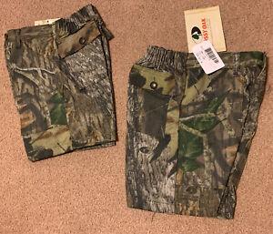 NWT Boys MOSSY OAK BREAK UP 4 Pocket Camo Shorts Size 4/12/16/18