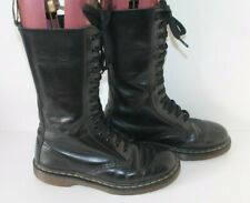 14 Hole Black Dr Martens Boots Size UK 5