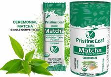 Organic Matcha Green Tea Powder | Classic Ceremonial | No Sugar | 12 Single Pack