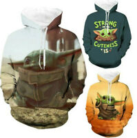 Star Wars The Mandalorian Baby Yoda Hoodies Sweatshirts Thick Warm Hooded Jacket