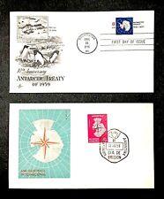 Argentina 677 IGY 1958 US 1431 1971 Science Space Polar Map Antarctic Treaty FDC