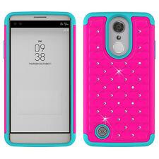 For LG Rebel 2 Case Luxury Bling Diamond Hybrid Protective Phone Cover