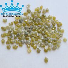 25 carats+ 100% Natural Loose Rough Diamonds RARE Yellow 2.80mm Raw Uncut Real