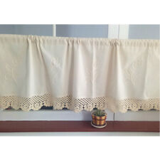 Hand Crocheted Window Valance Short Curtain for Kitchen Home Decoration, 4 Sizes