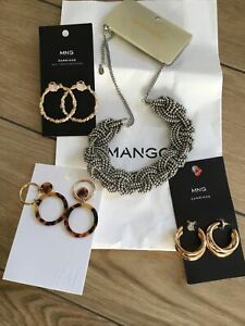 Accesorize Necklace And Mango &H&M Earrings Job Lot new With Tags