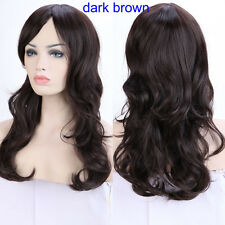 Vogue Halloween Costume Wig Straight Curly Full Wig Synthetic Blunt Bangs Women