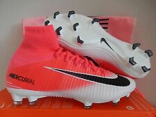 Nike Mercurial Superfly FG Pink and White Cr7 Soccer Cleats Football Mens Shoes 10