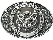 New Vintage Great US Eagle Flag Oval Belt Buckle Gurtelschnalle also Stock in US