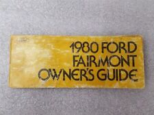 FAIRMONT  1980 Owners Manual 15915