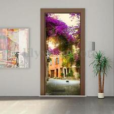 3D Garden House PVC DIY Door Cover Fridge Wall Sticker Self-adhesive Paper Decal