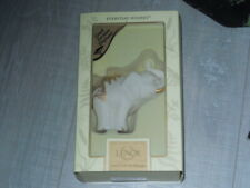 lenox everyday wishes good fortune elephant w / gold accents New original box