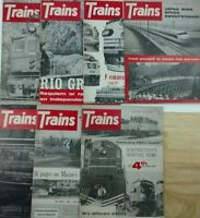 Trains Magazine 1965 set of 7 issues