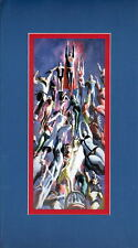 LEGION Of SUPERHEROES COLLAGE PROFESSIONALLY MATTED PRINT Alex Ross Artwork