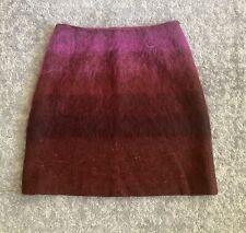Jaeger Mohair Ombre Burgundy Skirt, Size 12