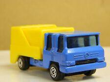 CORGI Juniors REFUSE TRUCK England Blue & Yellow Near Mint Movable Parts NICE:
