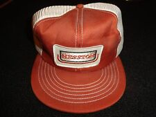 Vintage HESSTON Farm Machinery Snapback Mesh Farmer Truckers Cap / Hat