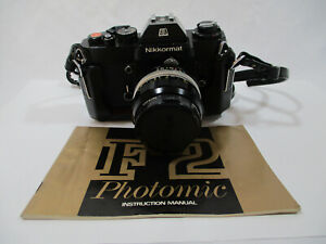 Nikon Nikkormat Photomic Camera F2 With Lens 0 35mm With Instructions