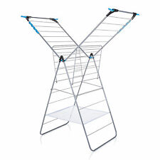Minky X-Tra Extra X Wing 24m Indoor Clothes Airer Silver Blue Dry Laundry Towel