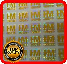 Ihr Logo und Text auf 600 Hologramm Etiketten Garantie Siegel Aufkleber 10x10mm