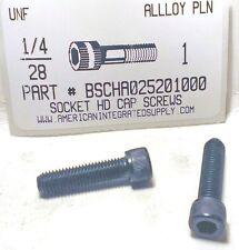 1/4-28x1 Hex Socket Head Cap Screws Alloy Steel Black (18)