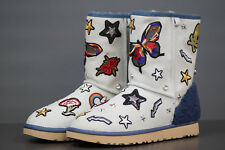 UGG W PATCH IT CLASSIC SHORT bleach denim EU.38 UK 5.5 Mod.1092803 Winter Boots