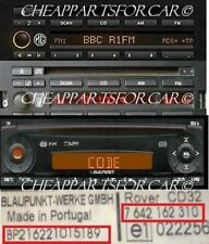 ROVER MG RADIO DECODE CODE FOR BLAUPUNKT RADIO READ DESCRIPTION CD32  CD43